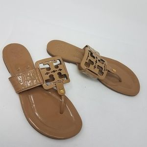 Tory Burch Square Miller Sandals Sand